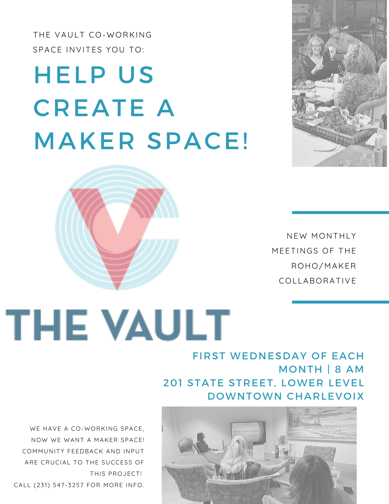 maker space meetings flyer