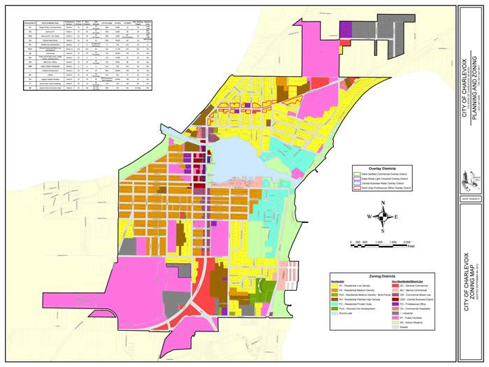 Image of colored City Zoning Map (PDF)